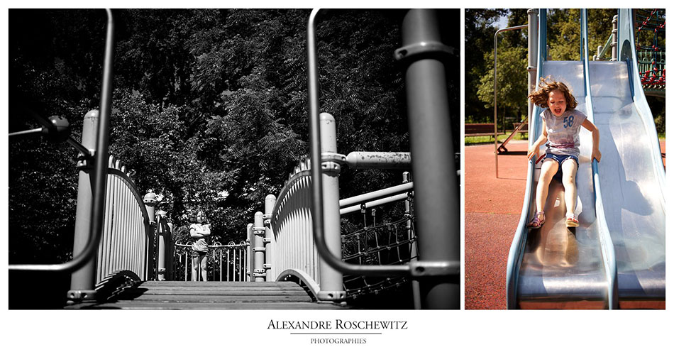 Photo de famille au Parc Bordelais de Bordeaux - Inès, Louison et ses parents - Alexandre Roschewitz Photographies