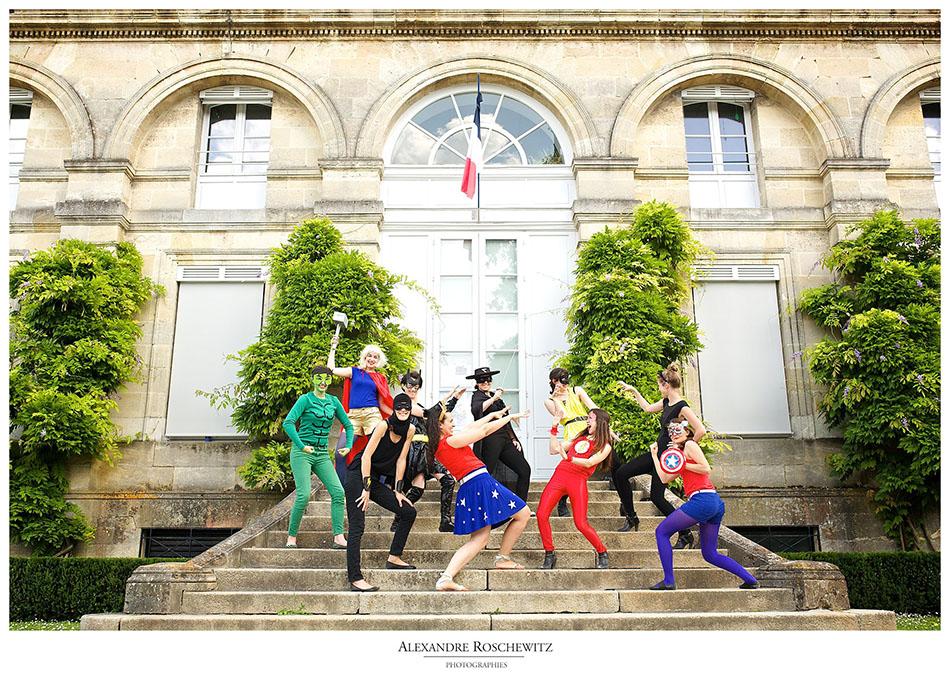 Une équipe de super-héros à Bordeaux pour un EVJF du tonnerre. Alexandre Roschewitz Photographies