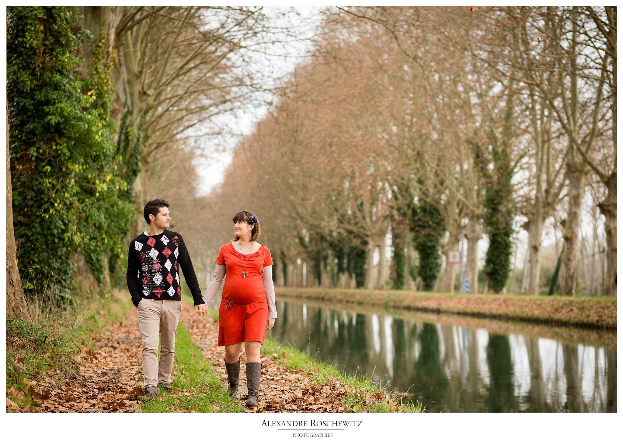Photographe grossesse à Sainte-Gemme – Carine et Vincent