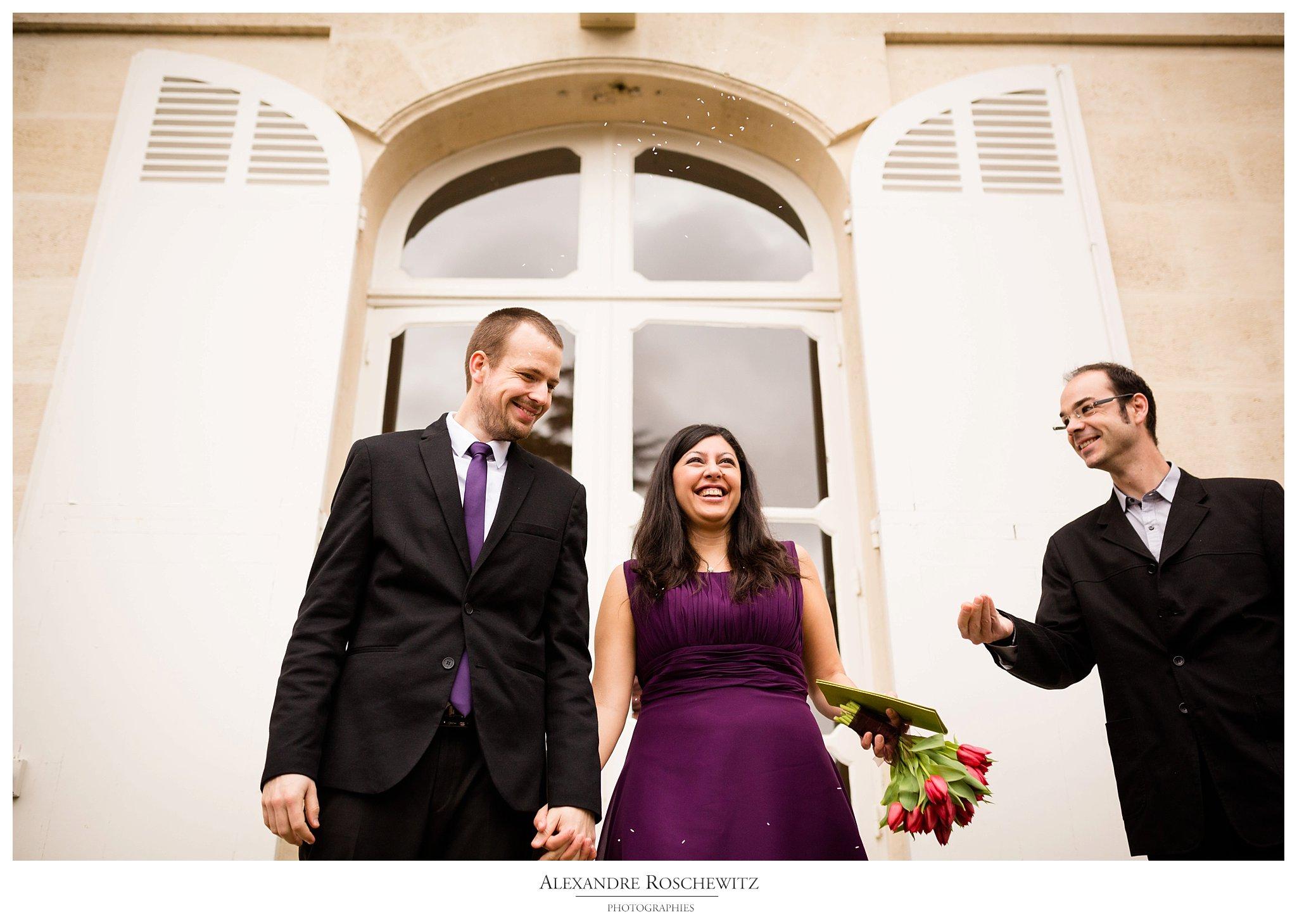 Le mariage civil de Yohana et Olivier à Mérignac, avant leur mariage religieux en juillet ! Alexandre Roschewitz Photographies.