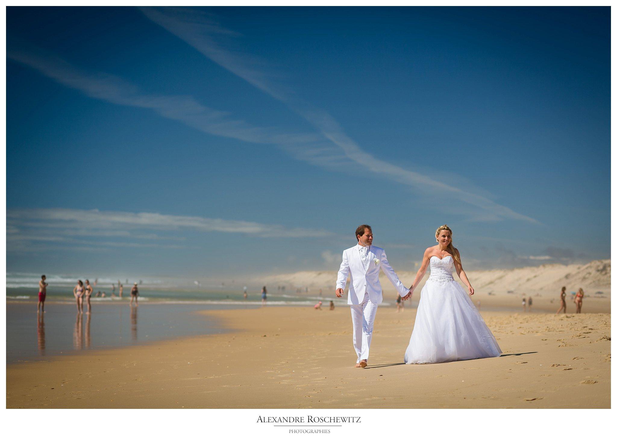 Un aperçu du mariage de Marie-Anne et Laurent au Teich et à Biscarrosse. Alexandre Roschewitz Photographies
