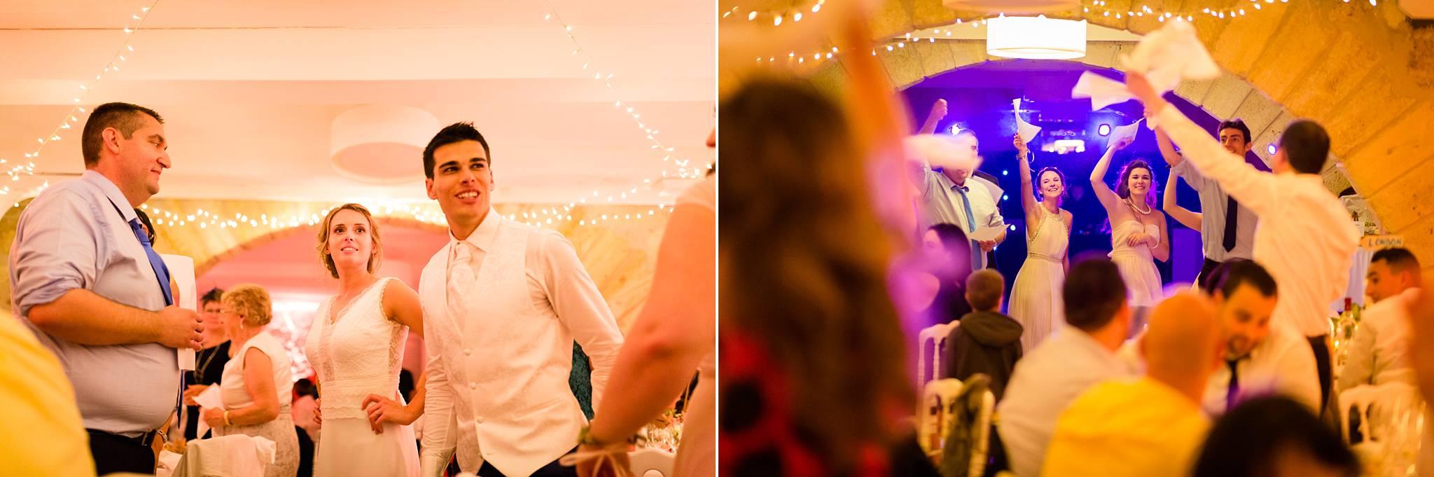 Les photos du mariage civil et religieux d'Aurore et Grégory à la Chartreuse des Eyres de Podensac et Pessac. Photographe mariage reportage Bordeaux et Gironde.