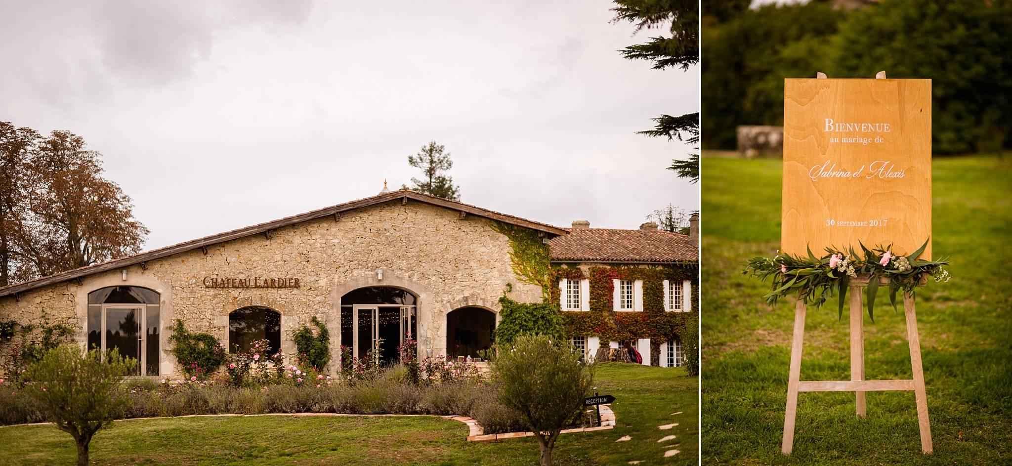 Le reportage photos du mariage de Sabrina et Alexis à Eysines et au Château Lardier à Ruch. Photographe mariage Château Lardier, Gironde.