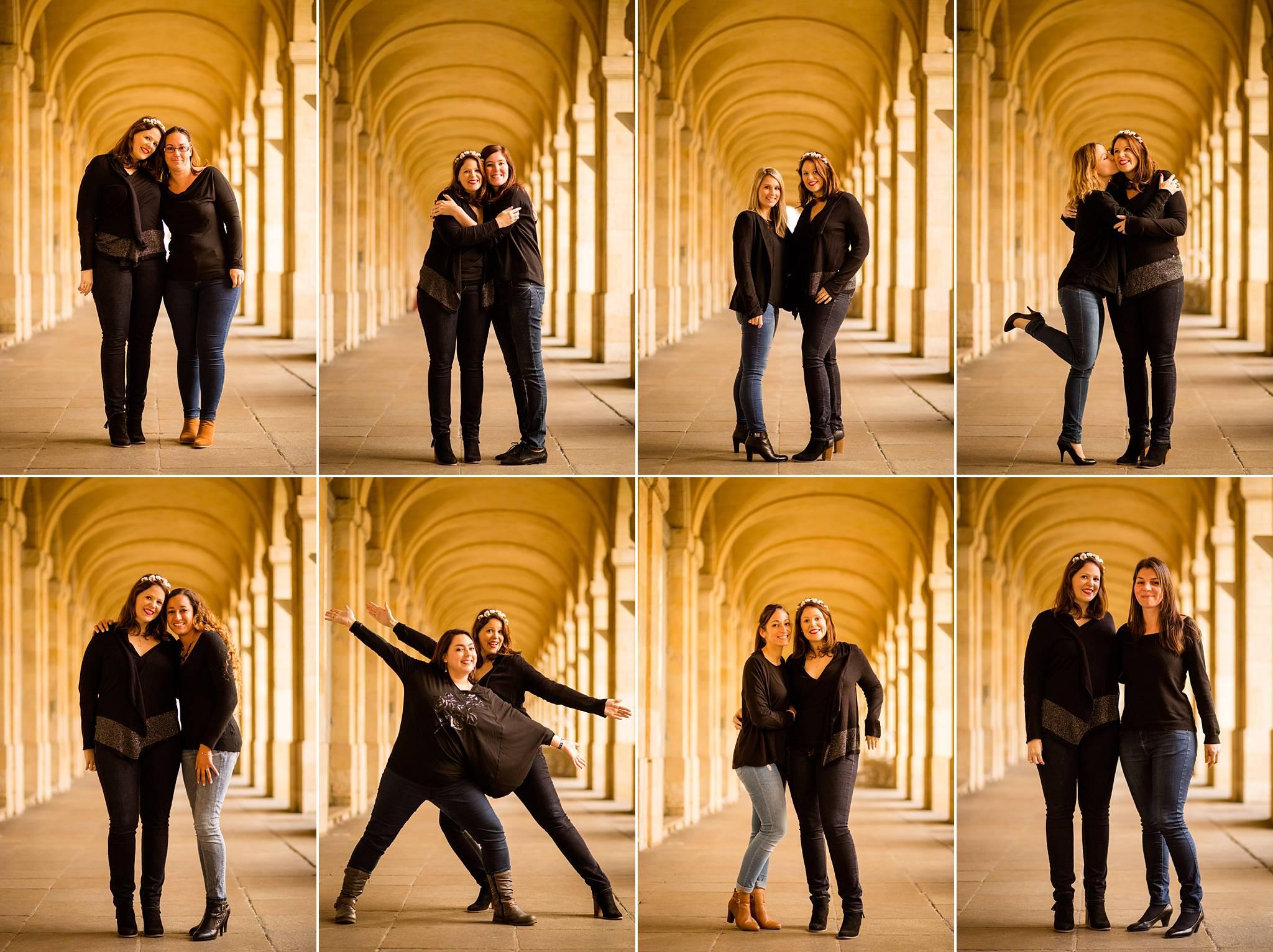 Les photos funs et naturelles de l'EVJF de Charlotte et ses 8 amies à Bordeaux centre et ses quais ! Alexandre Roschewitz, Photographe EVJF Bordeaux