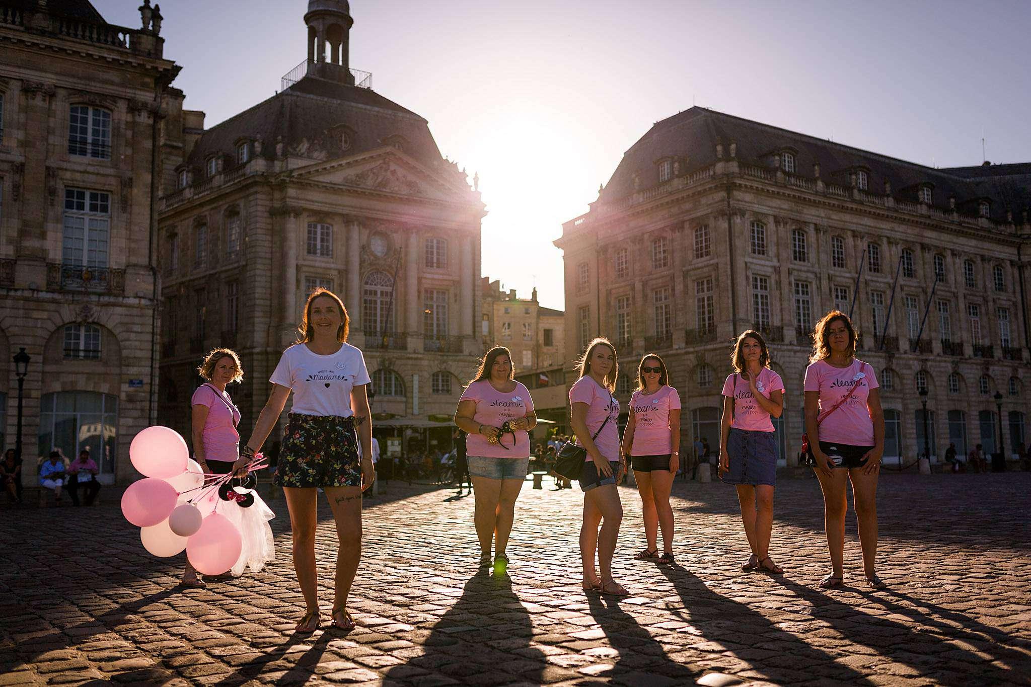 Photographe EVJF Bordeaux centre, une idée originale pour un enterrement de vie de jeune fille.