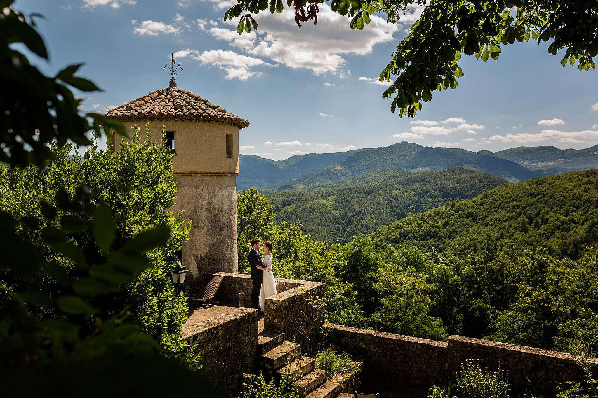 Photo de mariage en Ardèche au Château Liviers en Ardèche.
