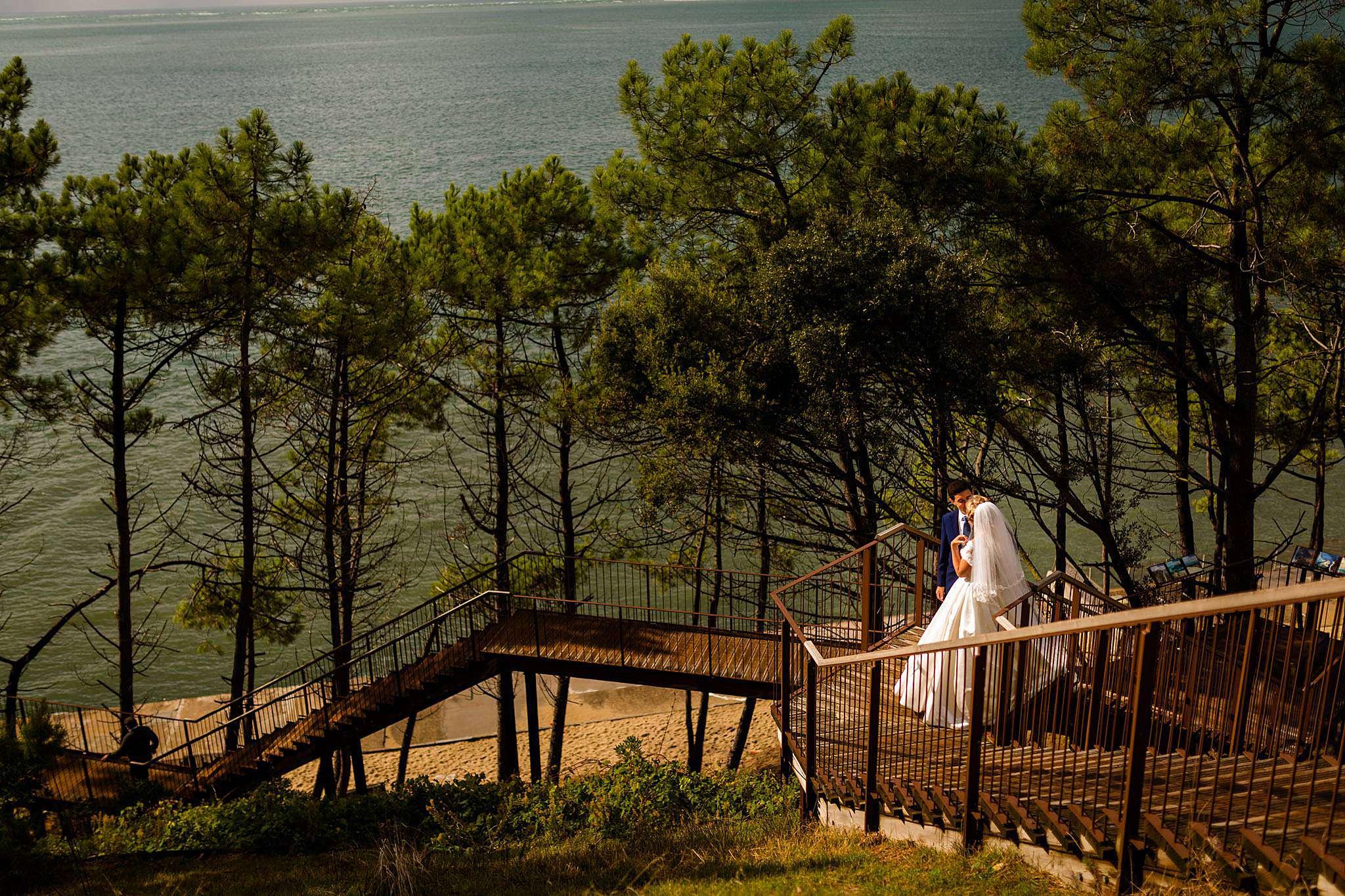 Mariage à la Corniche d'Arcachon, Bassin d'Arcachon.