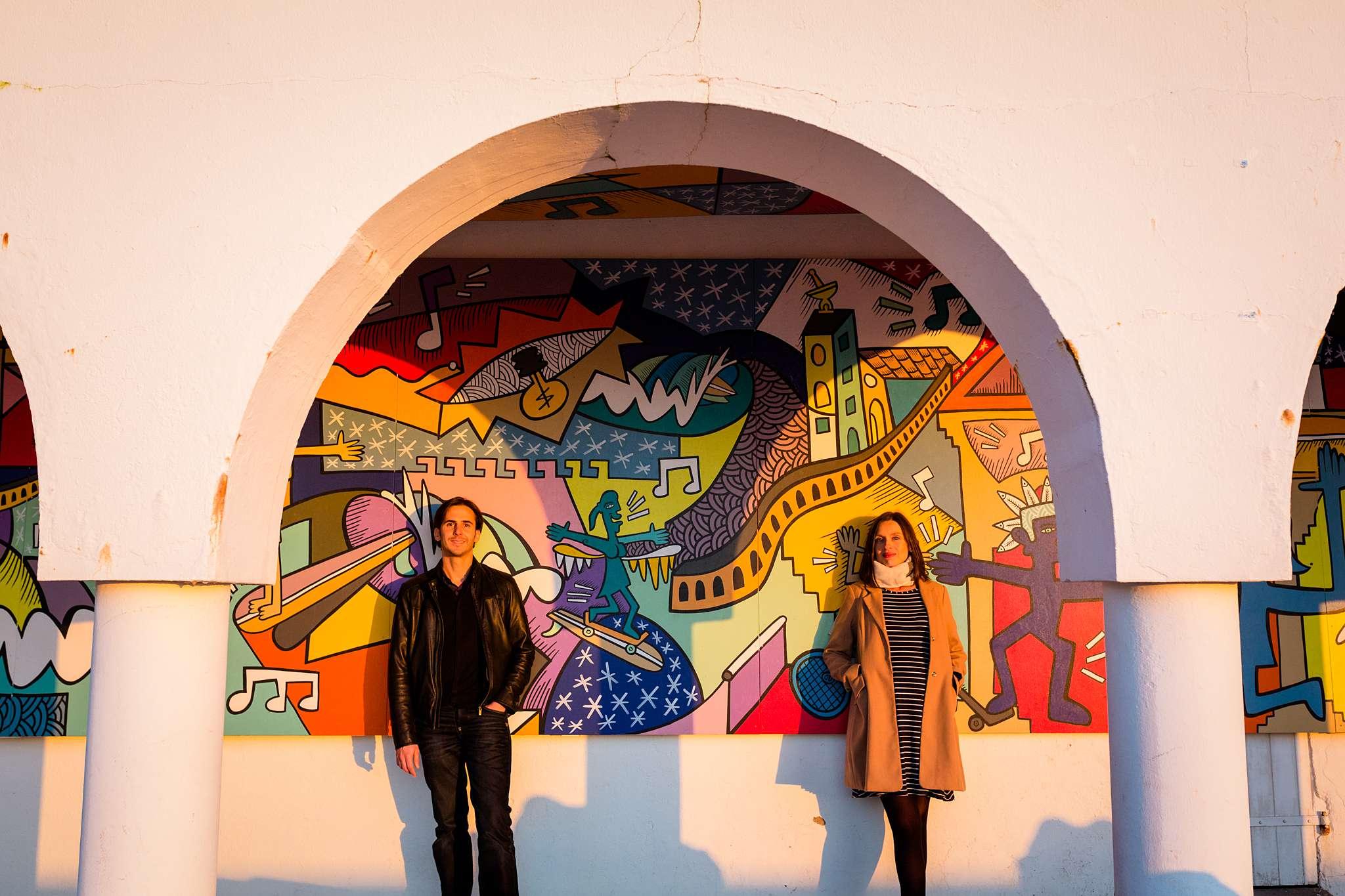 Les photos de grossesse et couple de Sophie et Rodolphe, à Biarritz Pays Basque ! Après sont EVJF il y a quelques années, voici Sophie enceinte. C'est beau. :)