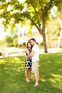 Elisabeth et Anthony - Photo de couple - Parc Saint-Mitre - Aix-en-Provence