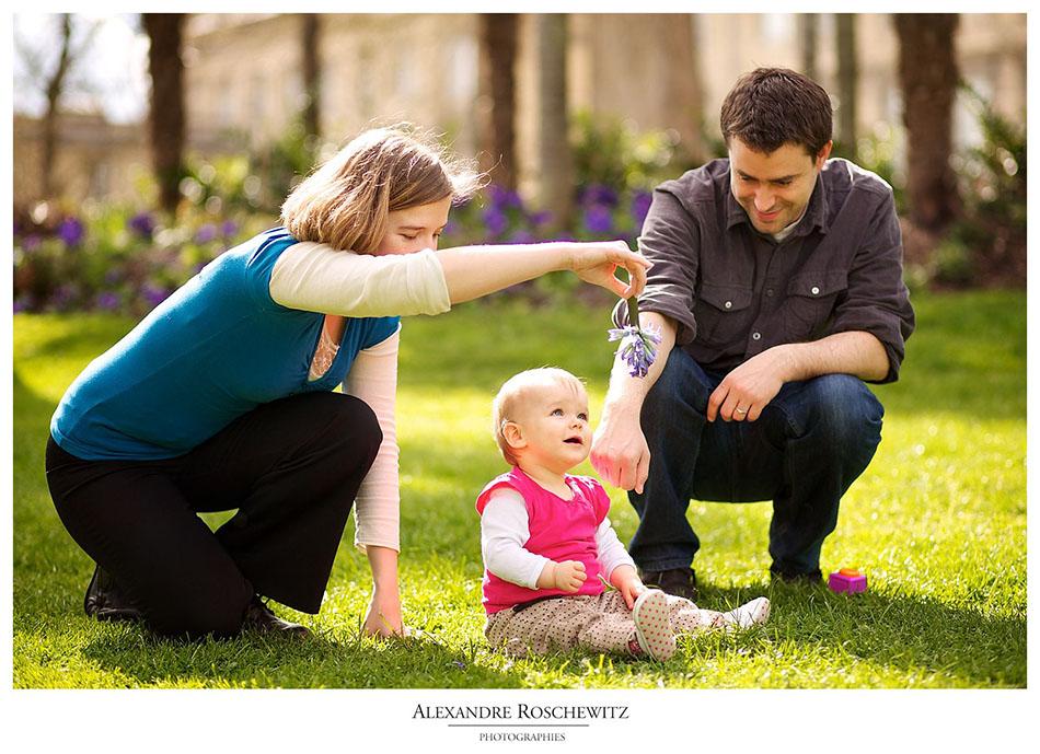 Photo de famille – Lucie, 1 an, et ses parents – Bordeaux