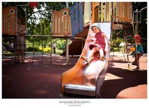 Photo de famille au Parc Bordelais de Bordeaux - Inès, Louison et ses parents - Alexandre Roschewitz Photographies