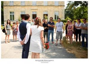 Les photos du mariage surprise de Caroline et Vincent à la Mairie Annexe de Pessac, suivi du cocktail dans son Parc.