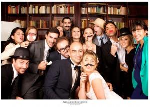 Un aperçu du résultat du photobooth mariage d'Angélique et Aurélien, à la Villa La Tosca. Photos par Alexandre Roschewitz Photographies.