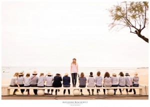 Un aperçu de la séance EVJF de Katell à Arcachon, avec ses 16 amies. Alexandre Roschewitz, Photographe mariage à Arcachon