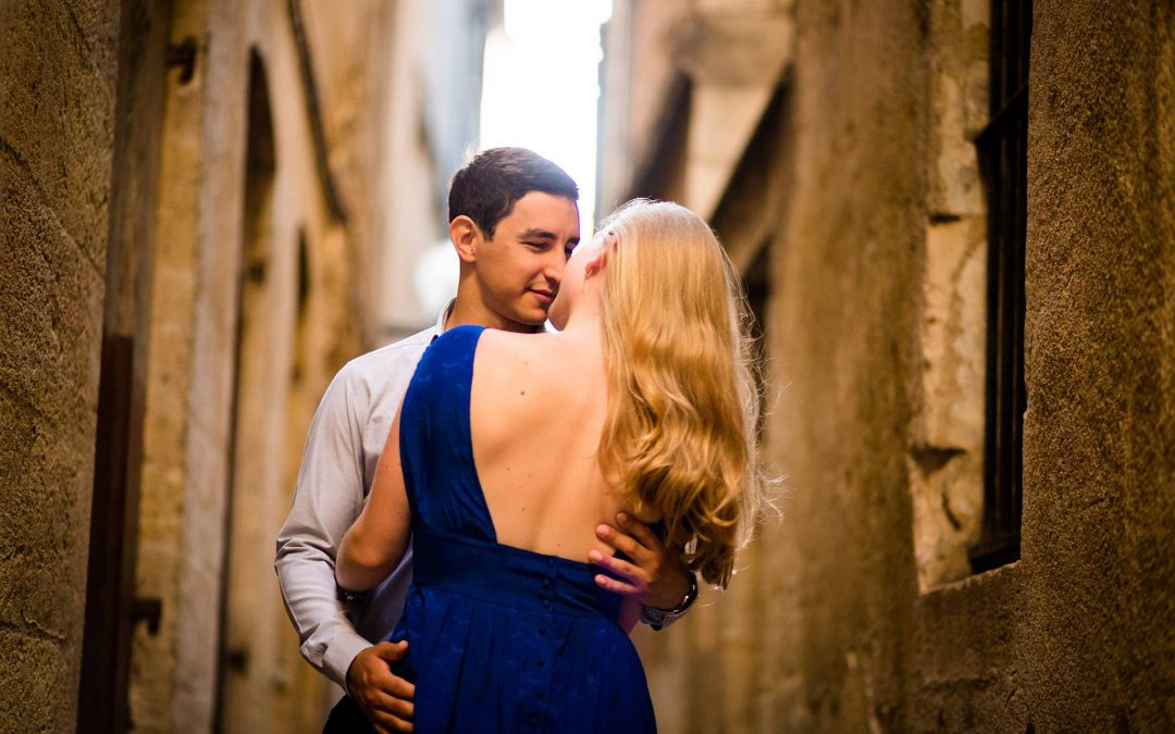 Photographe engagement à Bordeaux centre – Aurore + François