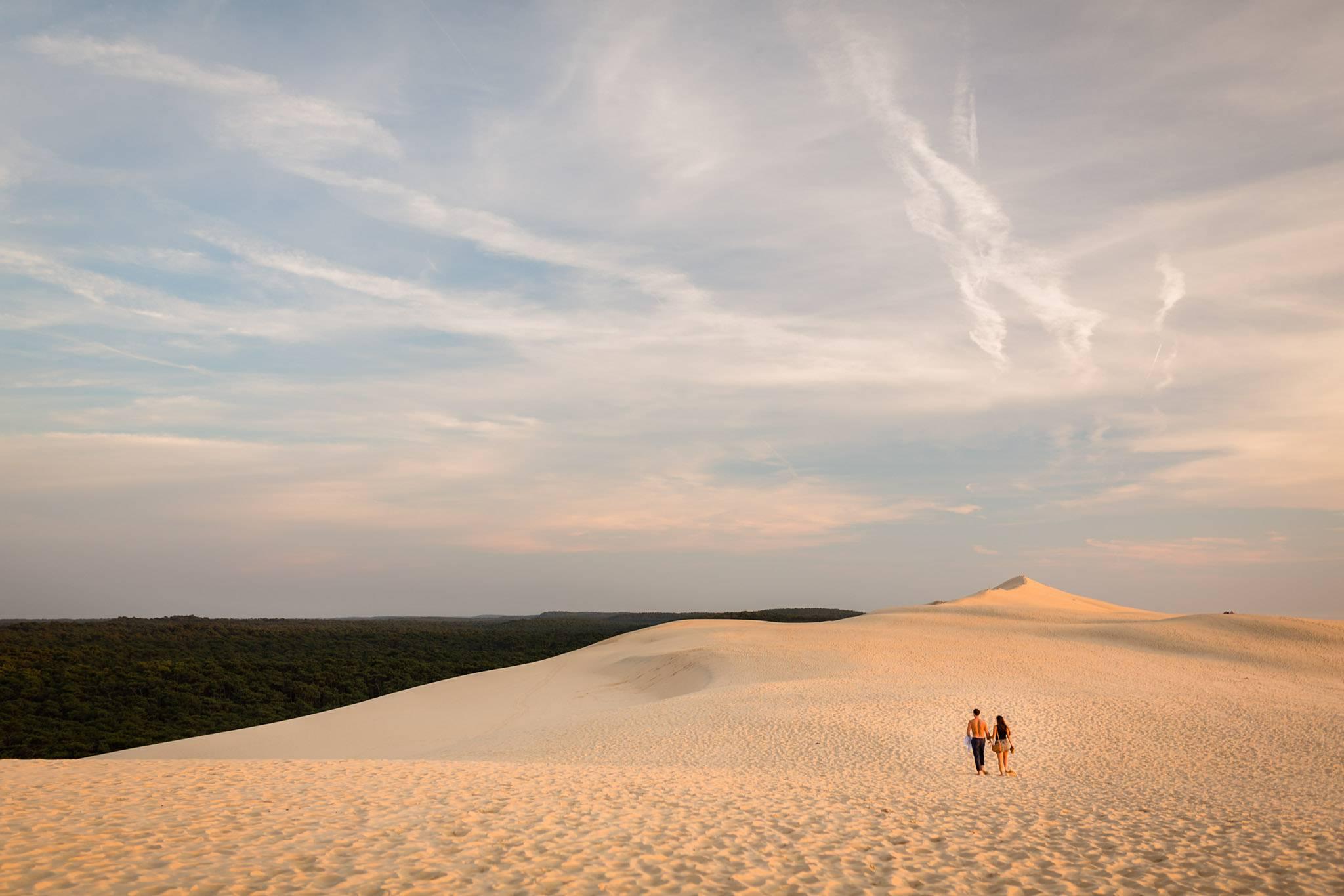 Séance engagement sur la dune du pilat