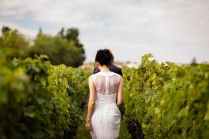 Mariage Château Pape Clément dans les vignes