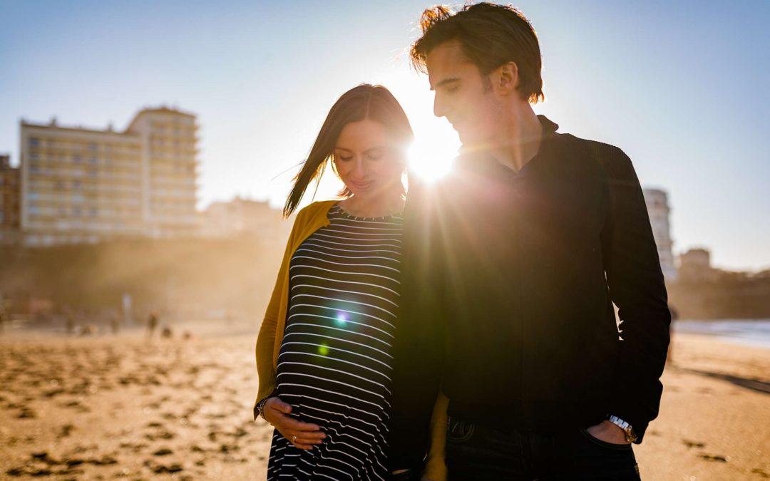 Photos de grossesse à Biarritz Pays Basque – Sophie + Rodolphe