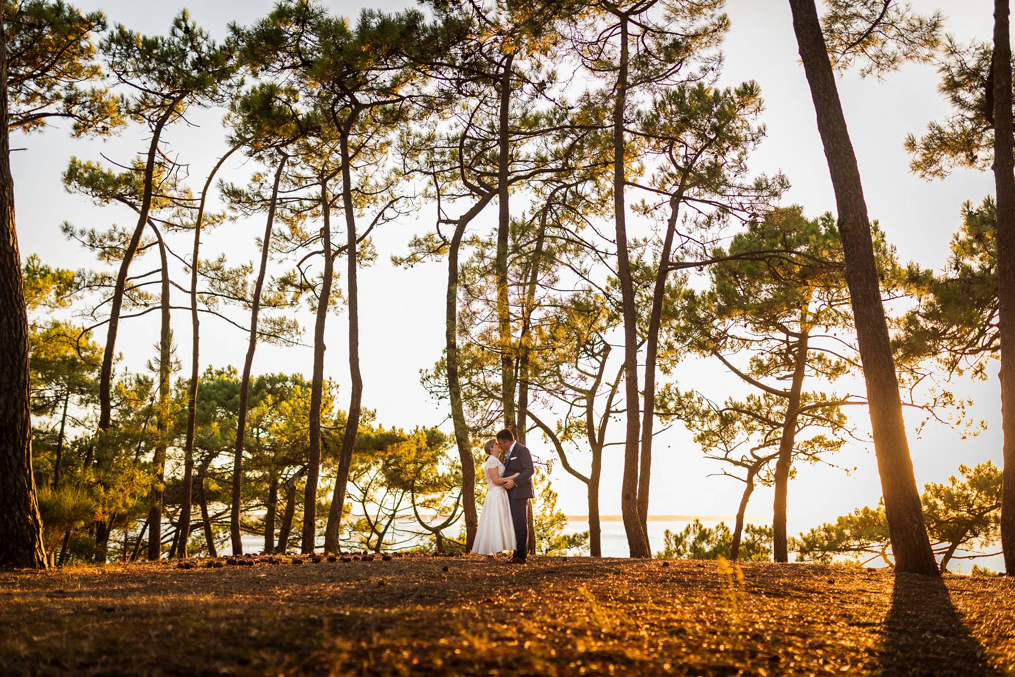 Photographe du mariage au Tir au Vol d'Arcachon, en face du Bassin d'Arcachon, avec Suzanne et Lionel qui venaient de Dallas aux USA.