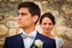 Le reportage photos de mariage civil et religieux de Sophie et Clément à Pessac et au Château de la Loubière à Bonnetan en Gironde.