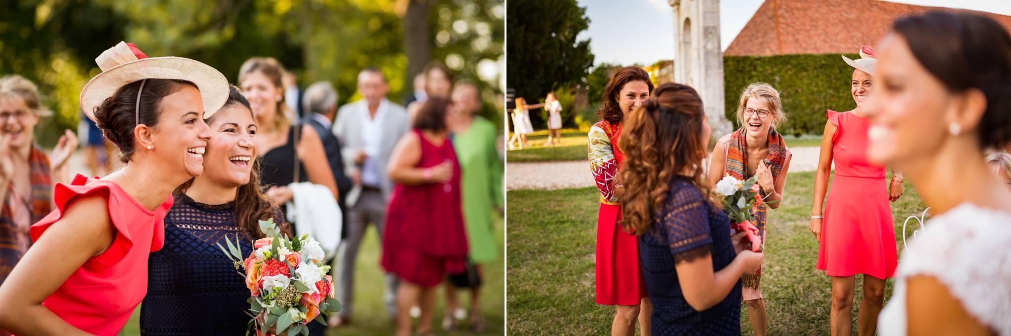 Le reportage photo de reportage du mariage civil et religieux à Vernon, puis au Chateau de Bonnemare en Normandie, avec Victoria et Baptiste.