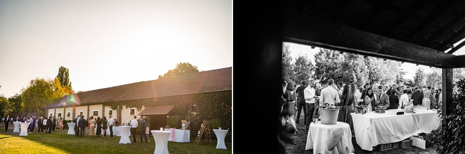 Le reportage mariage religieux à Gasny en Normandie de C+Q puis à La Grange de Fontenay, avec drone et Fumigène ! Alexandre Roschewitz Photographe Mariage.
