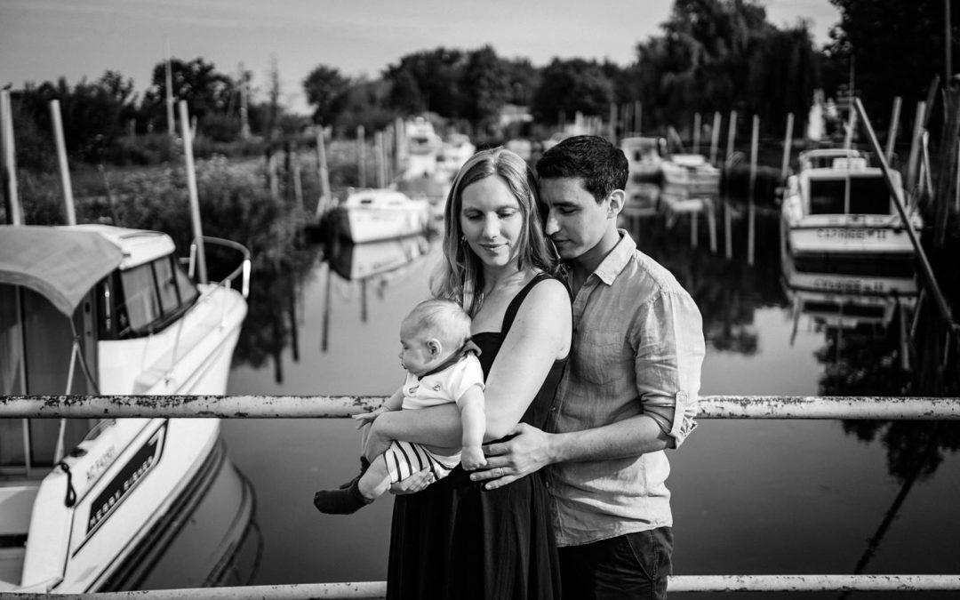 Photographe famille au Port de Biganos