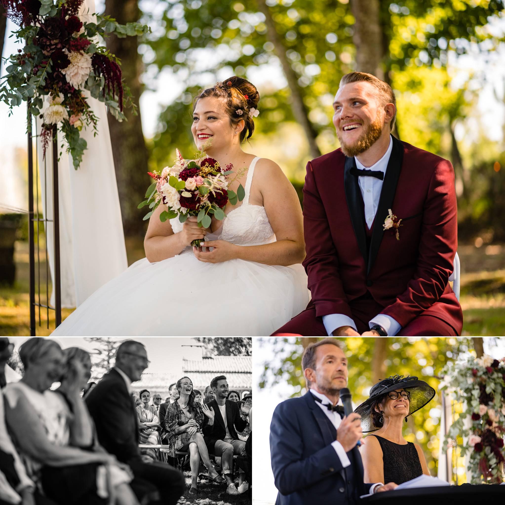 L'aperçu du mariage laïque de Marion et Jonathan au Domaine de Cordet. Avec une décoration inspirée d'Harry Potter. Alexandre Roschewitz, photographe mariage au Domaine de Cordet.